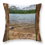 Colorado Love Window  Throw Pillow