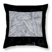 Colorado Map Music Notes 2 Throw Pillow