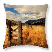 Colorado Meadow Throw Pillow