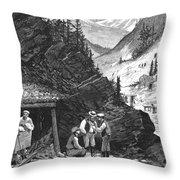 Colorado: Mining, 1874 Throw Pillow by Granger