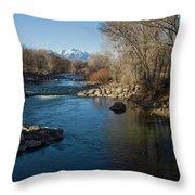 Colorado Mountain Stream Throw Pillow