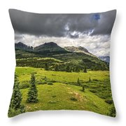 Colorado Mountains After Summer Rain Throw Pillow