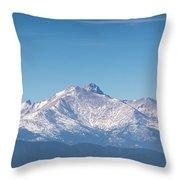 Colorado Mountains Throw Pillow