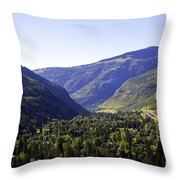 Colorado Mountains Throw Pillow