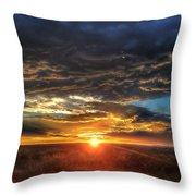 Colorado Plains Sunset Throw Pillow