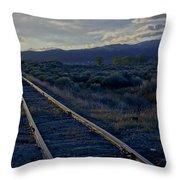 Colorado Railroad Crossing Throw Pillow