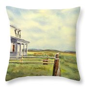 Colorado Ranch Throw Pillow