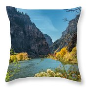 Colorado River And Glenwood Canyon Throw Pillow by Jemmy Archer
