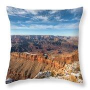Colorado River And The Grand Canyon Throw Pillow