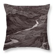 Colorado River At Desert View Grand Canyon Throw Pillow