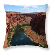 Colorado River At Glen Canyon Dam Throw Pillow