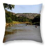 Colorado River Bend Texas Throw Pillow