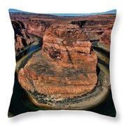 Colorado River Circles Horseshoe Bend Page Arizona Usa Throw Pillow