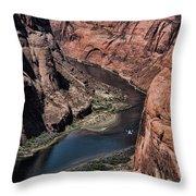 Colorado River Horseshoe Bend Color  Throw Pillow