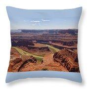 Colorado River Ox Bow Throw Pillow