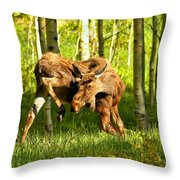 Colorado Rockies Moose Throw Pillow