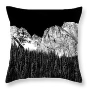 Colorado Rocky Mountains Indian Peaks Fine Art Bw Print Throw Pillow