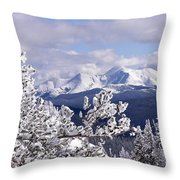 Colorado Sawatch Mountain Range Throw Pillow