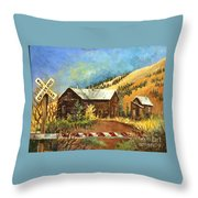 Colorado Shed Throw Pillow
