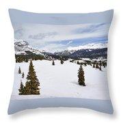 Colorado Snow Scene Throw Pillow