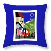 Colorado Vail Clocktower Throw Pillow by Sam Brennan