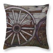 Colorado Wheels Throw Pillow