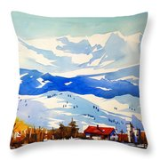 Colorado Winter 3 Throw Pillow