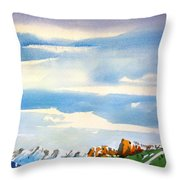 Colorado Winter 7 Throw Pillow