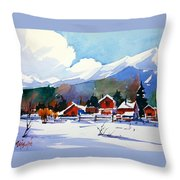 Colorado Winter 8 Throw Pillow