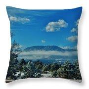 Colorado Winter Throw Pillow