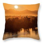 Coloradoriversunrise-yuma Throw Pillow