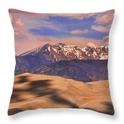 Colorado's Great Sand Dunes Shadow Of The Clouds Throw Pillow
