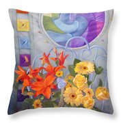 Colordance Of Summer Throw Pillow