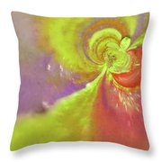 Colored Abstract Throw Pillow