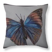Colored Butterfly Throw Pillow