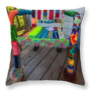 Colored Chair Throw Pillow