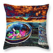 Colored Chalk Throw Pillow