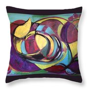Colored Emotions Throw Pillow
