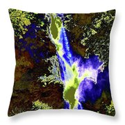 Colored Falls  Throw Pillow