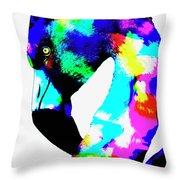 Colored Flamingo Throw Pillow