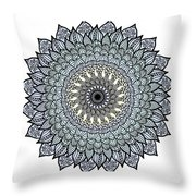 Colored Flower Zentangle Throw Pillow