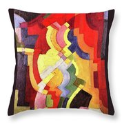 Colored Forms IIi By August Macke Throw Pillow