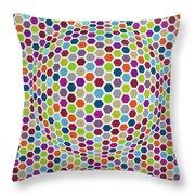 Colored Geometries Throw Pillow