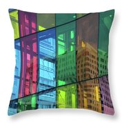 Colored Glass 10 Throw Pillow