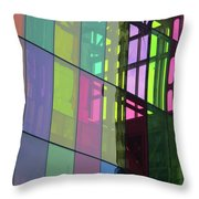 Colored Glass 11 Throw Pillow