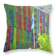 Colored Glass 12 Throw Pillow