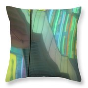 Colored Glass 15 Throw Pillow