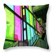 Colored Glass 2 Throw Pillow
