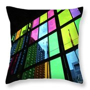 Colored Glass 3 Throw Pillow