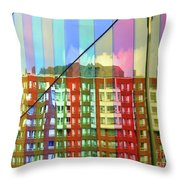 Colored Glass 6 Throw Pillow